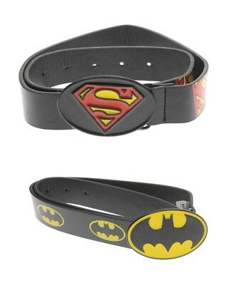 Official DC Comics Batman SuperMan Metal Buckle Belt Junior Boys 3-13 Years