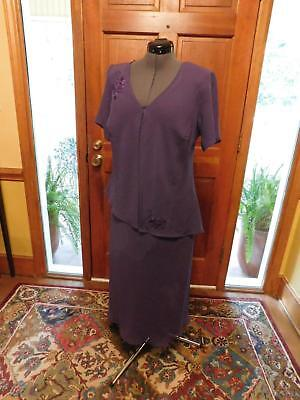 Beautiful Purple Mother Of The Bride Or Groom Or Special Occasion Formal Sz 14W