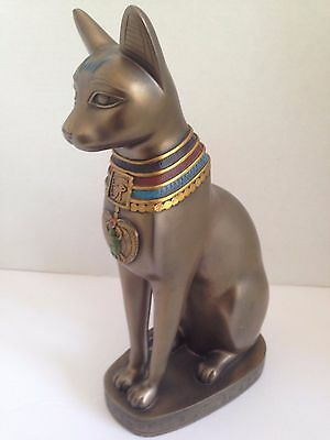 "Egyptian Cat Goddess Statue....bronze Resin....12""tall"