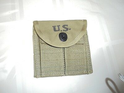 WW2 .30 M1 CARBINE  BUTTSTOCK TYPE POUCH     Marked Biscayne tent and awning inc