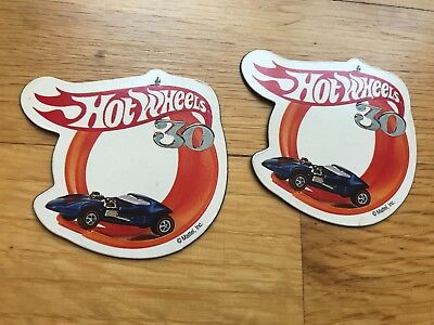 Collectable Hot Wheels Magnet 30Th Anniversary From Mattel-Lot Of 2