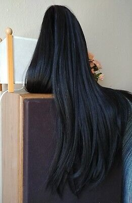 Human Hair Blend Lace Front Wig