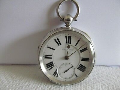 1892 Fusee pocket watch solid silver very good condition and working