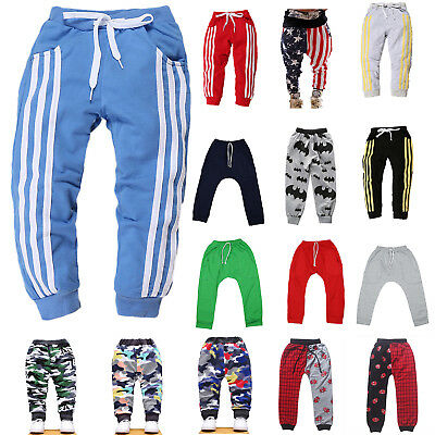 Kids Boy Girl's Harem Pants Toddler Sports Sweat Joggers Casual Bottoms Trousers