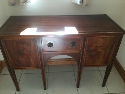 Edwardian Mahogany Sideboard With Crossbanding - Good Proportions For The Modern