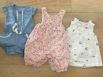 Newborn To 1 Month Baby Girls Clothing Bundle Next M&S Mothercare