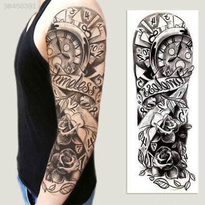 Graphic Temporary Tattoo Sticker Full Arm Sticker Large Pattern Hot Sale B01D