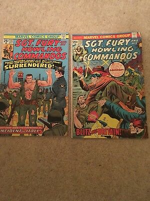 Sgt.Fury Howling Commandos # 117 & 132 marvel comics group