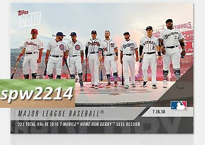 2018 Topps Now #466 Record 221 HRs Hit in Home Run Derby - Harper, Schwarber