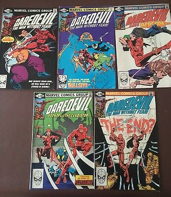 Daredevil The Man Without Fear #171,172,173,174 & 175 Marvel Comics Group