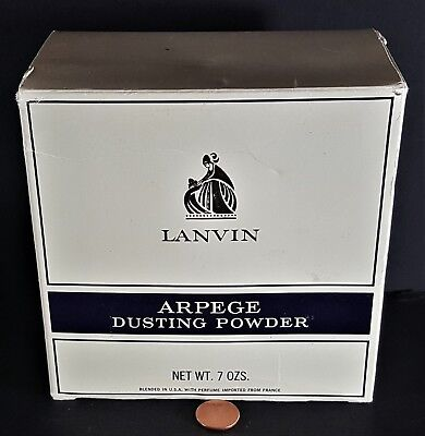 9e4f331a74 Vintage Arpege By Lanvin Large Full Size Dusting Powder 7-1 2 Oz New