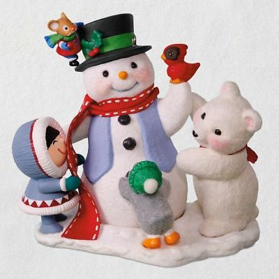 Hallmark Keepsake 2018 Let's Build a Snowman Christmas Ornament Club New w Box