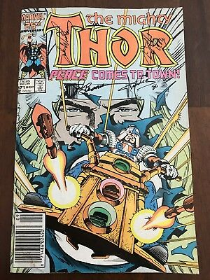 Thor #371 Signed By Stan Lee Sal Buscema And 2 More.  Walter Simonson Writing