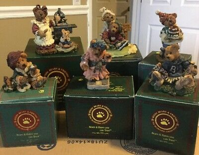 Lot Of 6 Boyd's Bears Bearstone Collection