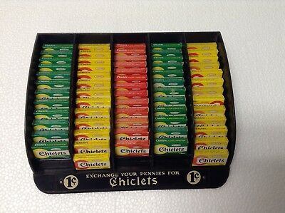 Chiclets  tiny size Gum Display Antique  Counter Store sign