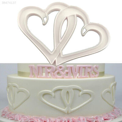 Kitchen Tool Cake Decorating Cake Fondant Mould Healthy Double Heart Shape AAAF