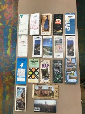 Old Road Maps - Lot of 18 Includes Some City Maps