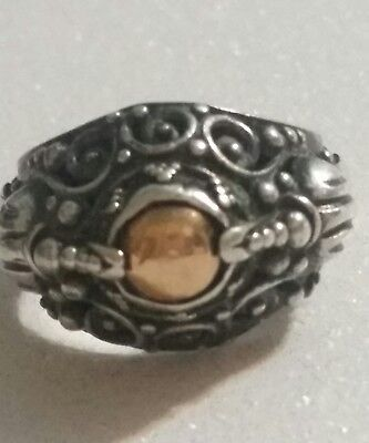 OKA sterling silver Bali ring Dome style size 6