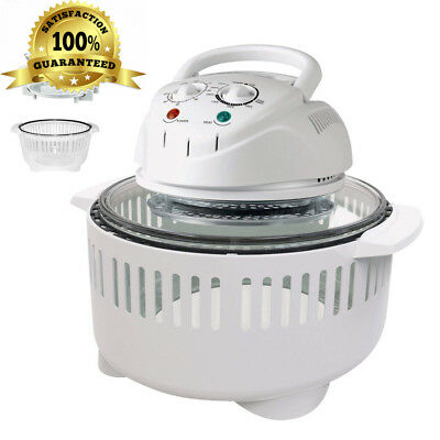 1400W Halogen Oven Healthy Cooking Extending Convection Cooker 12-17L with...