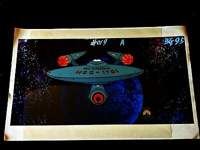 Star Trek The Animated Series 1973 Animation ENTERPRISE Sericel with Copy Back