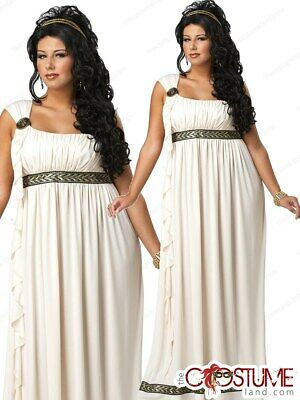 Plus Olympic Goddess Women Costume Adult New Woman Plus Size Gown