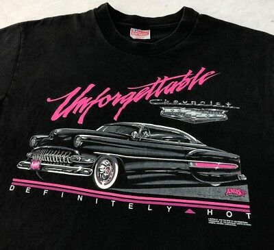 VTG Original 80's Andy's Chevrolet 1954 BEL AIR Definitely Hot Chevy T Shirt L