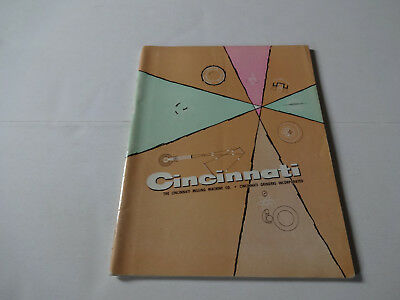 Vintage 1961 Cincinnati Milling Machine Co Machine Tool Catalog