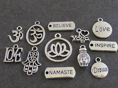 YOGA CHARM - Choose 1 from photo. Suit Spiritual/ Meditation /Motivation/ Health