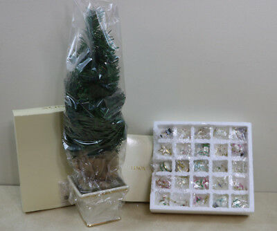 New 2004 Rare Lenox Christmas Tree / Advent Calender With Porcelain Ornaments