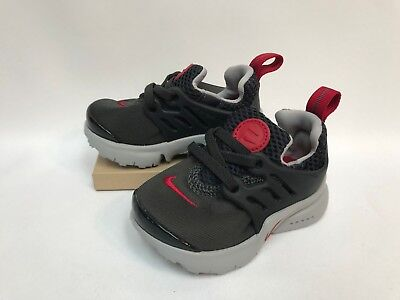 39722a25b0b34 Nike Little Presto (TD) Toddler Shoes Black Anthracite Red Gray 844767-005  NEW