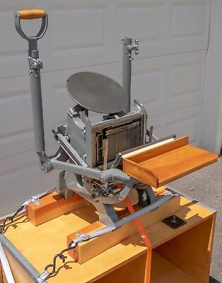 Chandler & Price Pilot letterpress printing press, fully restored, custom cart