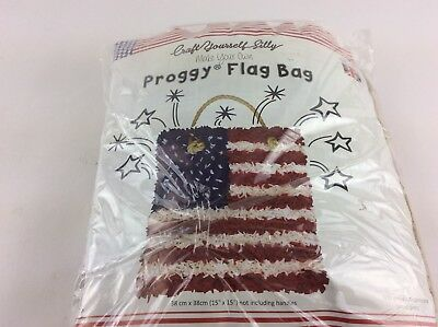 CRAFT YOURSELF SILLY MAKE YOUR OWN PROGGY FLAG BAG  DIFFICULTY AVER made in UK