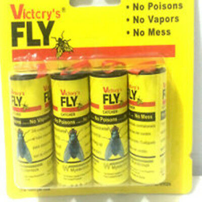 4 x Fly Sticky Paper Strip Mosquito Catcher Insect Toxic Insect Catcher 2A96