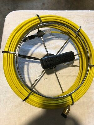 """Fiber Glass Push Rod & Reel Cable for SDT Drain Camera Fits 7/8"""" Camera Head"""