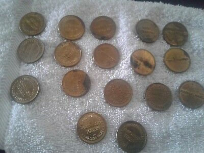 Token Karmichael Car Wash Tokens Lot Of 17 Non   Refundable  No Cash Value