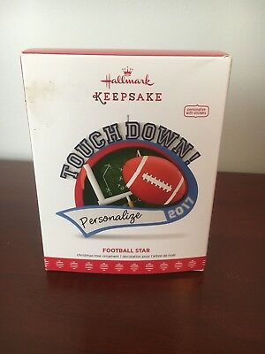 "Hallmark Keepsake Ornament 2017 ""football Star"" Nib Free Shipping Personalize"