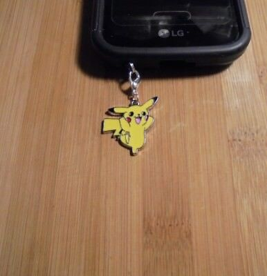 Pikachu Pokemon Cell Phone Clip Charm~Dust Plug Cover~Free Ship