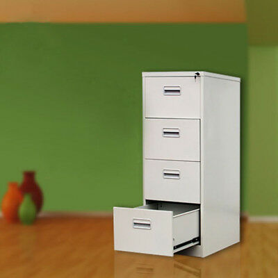 """Office White 22"""" Deep 4-Drawer Vertical File Cabinet 4 Drawer Filing Cabinet NEW"""
