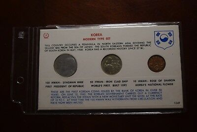 Modern Unc.type Set--Korea-1959-1961--Us Minted Coins