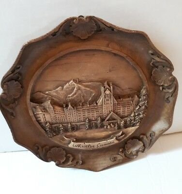 Whistler BC Canada wall plaque vintage souvenir carved wood rare collectable