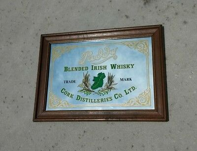 "Vintage Paddy Blended Irish Whisky Bar Mirror 21 x 15"" Den Man Cave"
