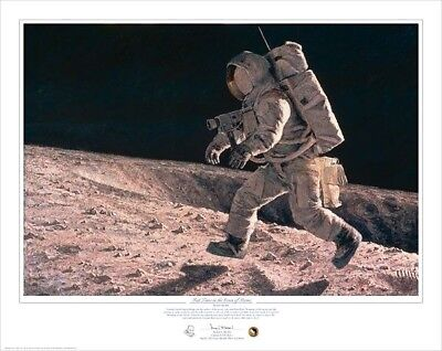 Fast Times On The Ocean Of Storms Apollo 12 ARTIST PROOF PRINT Signed Alan Bean