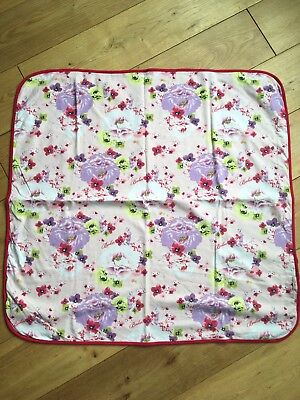 Baby Girls Lilac Floral Print Ted Baker Pram Cot Blanket Immaculate