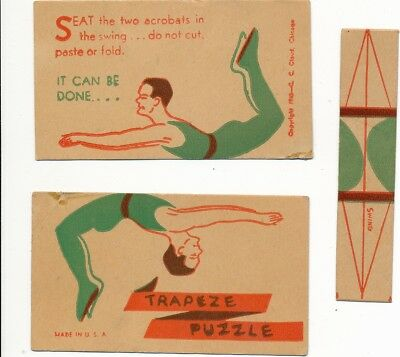 Carey Cloud Cracker Jack Puzzle from 1940!