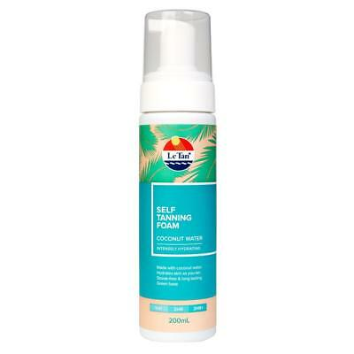 Le Tan Self Tanning Foam Coconut - 200mL