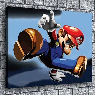 """12""""x16""""Mario Poster Painting HD Print on Canvas Home Decor Room Wall Art Picture"""