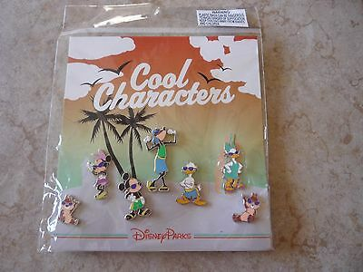 Pin Trading Disney Pins Lot of 7 New Cool Characters Set Beach Mickey Mouse Chip