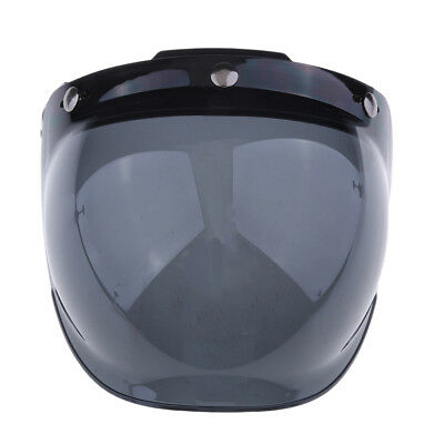 Motorcycle Helmet 3-Snap Flip Up Open Face Visor Lens Shield Color#3