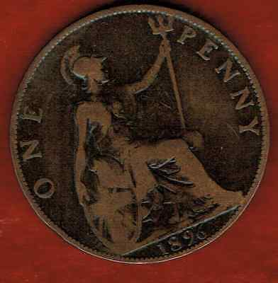 Great Britain Large Penny 1896 .queen Victoria