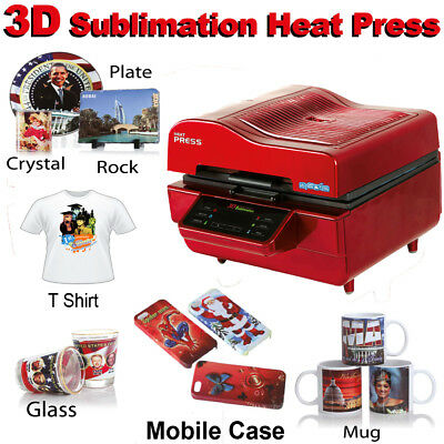 3D VACUUM DYE SUBLIMATION ink HEAT PRESS Mobile Phone Case, Mug, t shirt, ipad